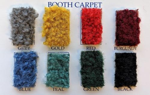 Stronco booth carpet sample colours